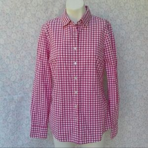 J CREW gingham plaid career shirt NEW sz 4 perfect